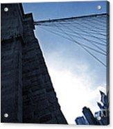 Falling Lines - Brooklyn Bridge Acrylic Print