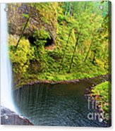 Falling Off The Cliff Acrylic Print