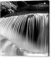 Falling Water Black And White Acrylic Print