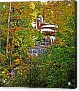 Falling Waters House Setting Acrylic Print