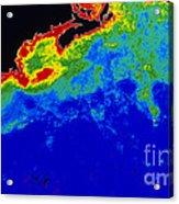 False Col Satellite Image Acrylic Print by Dr. Gene Feldman, NASA Goddard Space Flight Center
