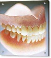 False Teeth Acrylic Print
