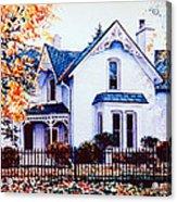 Family Home Portrait Acrylic Print
