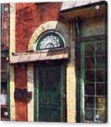 Fancy Green Door Burlington Nj Acrylic Print