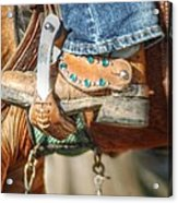 Fancy Horse Tack At A Show Acrylic Print