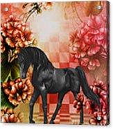 Fantasy Black Horse Acrylic Print