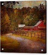 Farm - Barn - Rural Journeys  Acrylic Print by Mike Savad
