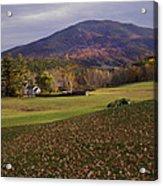 Farm By Ascutney Mountain Vermont Acrylic Print