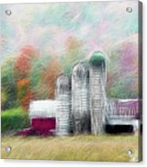 Farm In Fractals Acrylic Print