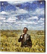 Farm Life - A Good Crop Acrylic Print by Nikki Marie Smith
