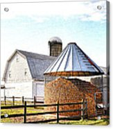 Farm Life Acrylic Print by Todd Hostetter