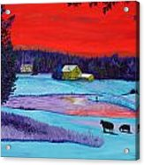 Farm Pond Acrylic Print