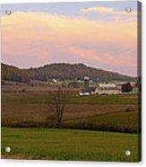Farm Scene From Knoll On Rt. 41  Acrylic Print