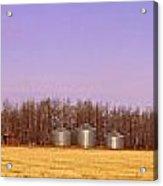 Farm Scene North Of Calgary, Alberta Acrylic Print