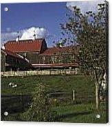 Farm Scene With Barn  Acrylic Print