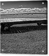 Farm Wagon In A Field On Prince Edward Island Acrylic Print
