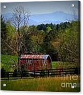 Farm With A View Acrylic Print by Crystal Joy Photography