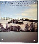 Farmer's Christmas Acrylic Print
