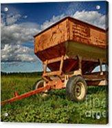 Farmer's Grain Wagon Acrylic Print