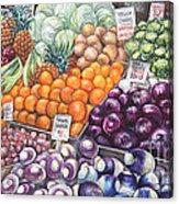 Farmers Market Acrylic Print by Nancy Pahl