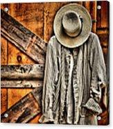 Farmer's Wear Acrylic Print by Pat Abbott