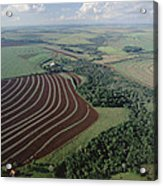 Farming Region With Forest Remnants Acrylic Print