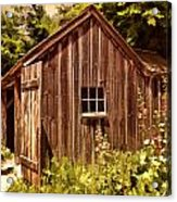 Farming Shed Acrylic Print by Lourry Legarde