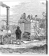 Farming: Threshing, 1851 Acrylic Print