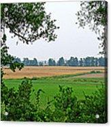 Farmland View Acrylic Print