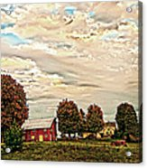 Farms From The Fifties Acrylic Print