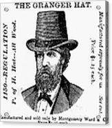 Fashion: Granger Hat Acrylic Print