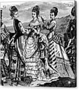 Fashion: Womens, 1874 Acrylic Print