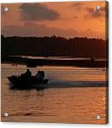 Fast Boat Sunrise Acrylic Print