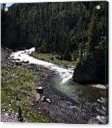 Fast Rapids On Firehole River Yellowstone  Acrylic Print