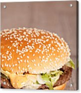 Fat Hamburger Sandwich Acrylic Print by Sabino Parente