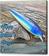 Fathers Day Greeting Card - Vintage Floyd Roman Nike Fishing Lure Acrylic Print