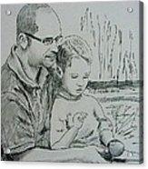 Father's Day Acrylic Print by Lou Cicardo