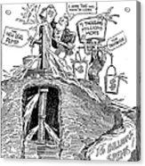 F.d.r. Cartoon, 1930s Acrylic Print