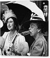Fdr Presidency. British Queen Elizabeth Acrylic Print