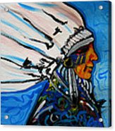 Feather Head Acrylic Print