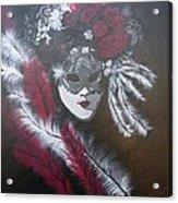 Feathered Rose Acrylic Print