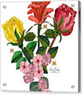 February 2012 Roses And Blooms Acrylic Print