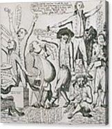 Federalist Cartoon Of 1793 Shows Acrylic Print