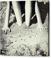 Feet In The Sand Acrylic Print