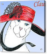 Feline Finery - Claudia Acrylic Print