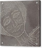 Female  Face  On  Steel  Two Acrylic Print