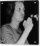Feminist Author Betty Friedan Speaking Acrylic Print by Everett