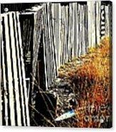 Fence Abstract Acrylic Print by Joe Jake Pratt
