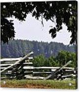 Fence At Appomattox Acrylic Print
