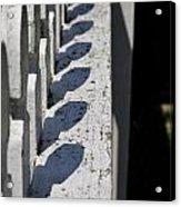 Fence Shadows Acrylic Print